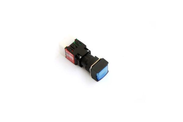 A16SMS 16mm Push Button Blue