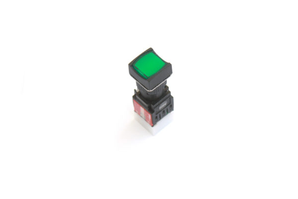 A16SMS 16mm Push Button Green