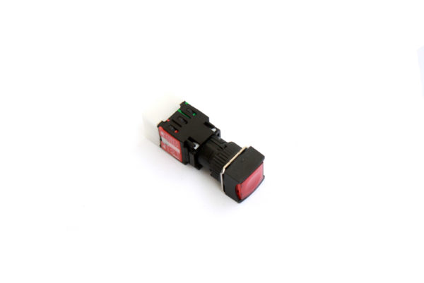 A16SMS 16mm Push Button Red