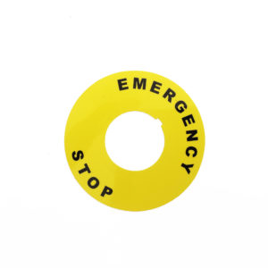 G2BM4 Emergency Stop Label