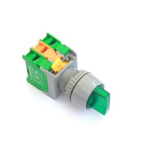 GLS22 Green Illuminated Selector Switch