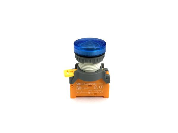 PLN22 22mm Panel Indicator Ba9s Bulb Blue