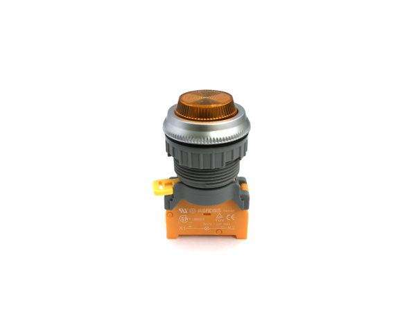 PLN30 30mm Panel Indicator Ba9s Bulb Yellow