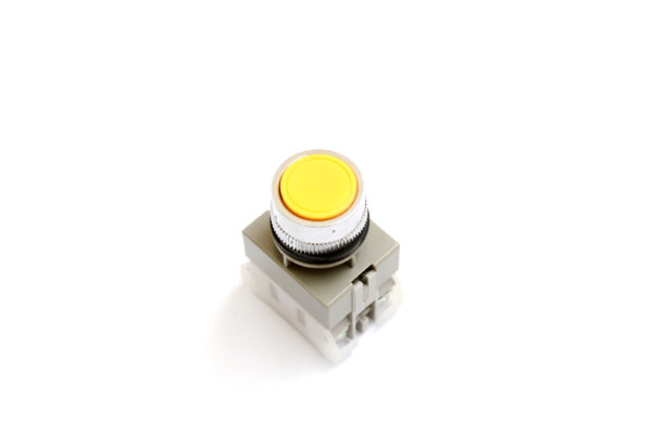 APB22Y 22mm Yellow Push Button