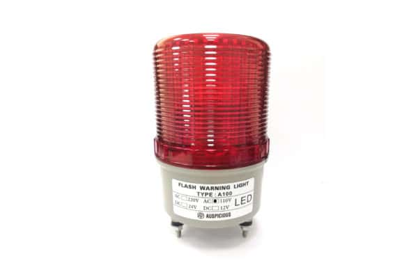 A100 110VAC Red Flashing Warning Light with Buzzer Auspicious