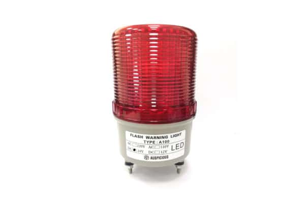 A100 24VDC Red Flashing Warning Light with Buzzer Auspicious