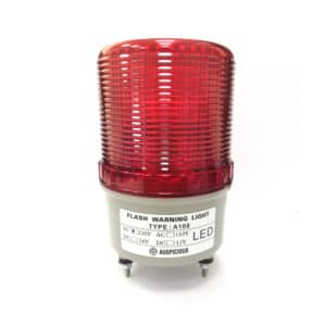 A100 220VAC Red Flashing Warning Light with Buzzer Auspicious