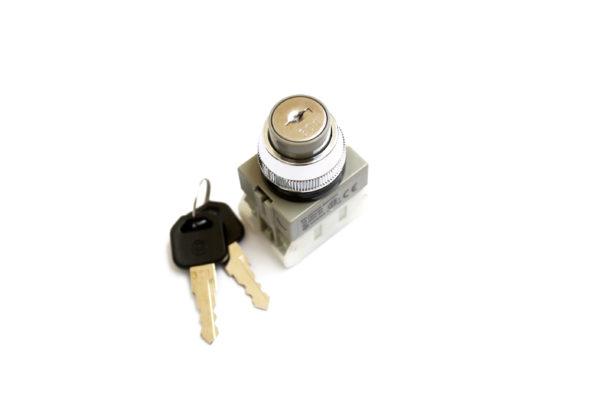 AKS223 3 Position Key Switch