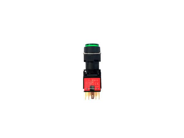 16mm Green Round Push Button