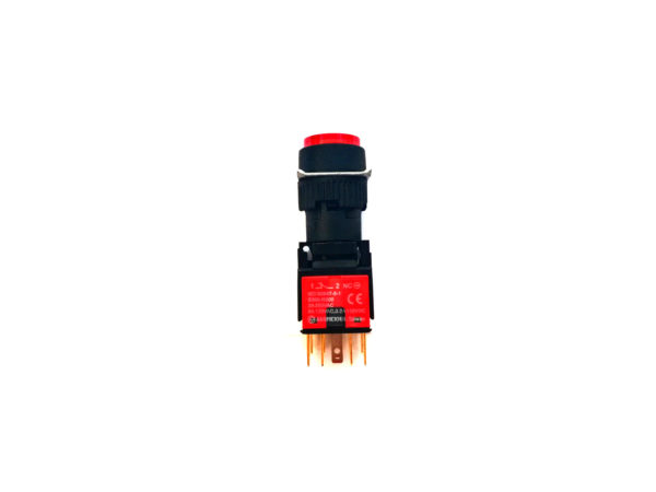 16mm Red Round Push Button