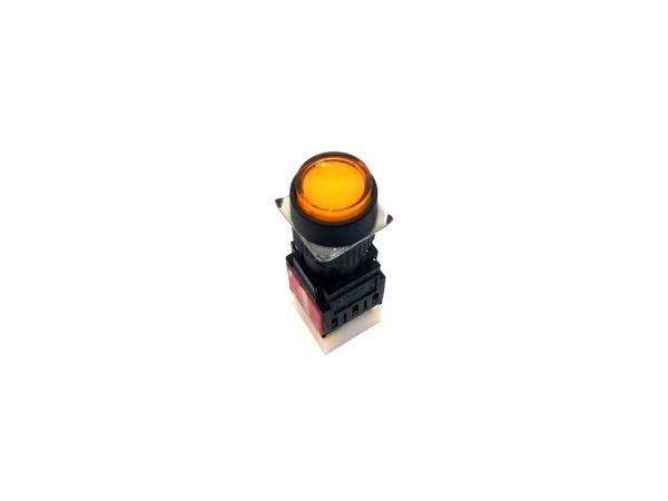 16mm Yellow Round Push Button