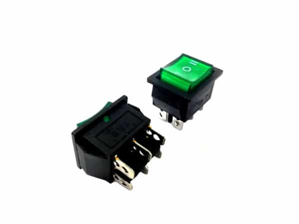 6Pin Green Rocker Switch 3 Position – Hassan Abbas Trading