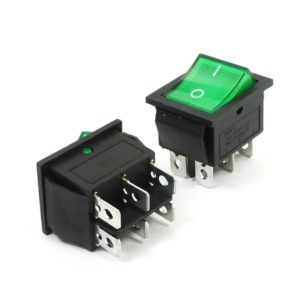 6 Pin Green Rocker Switch ON OFF