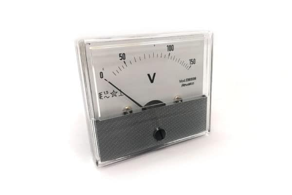 150V Round Voltmeter Revalco EMI55M AC Analogue