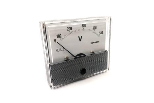 500V Round Voltmeter Revalco EMI55M AC Analogue