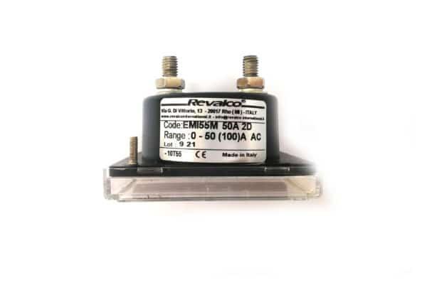 Round Ammeter 50A Revalco EMI55M AC Analogue